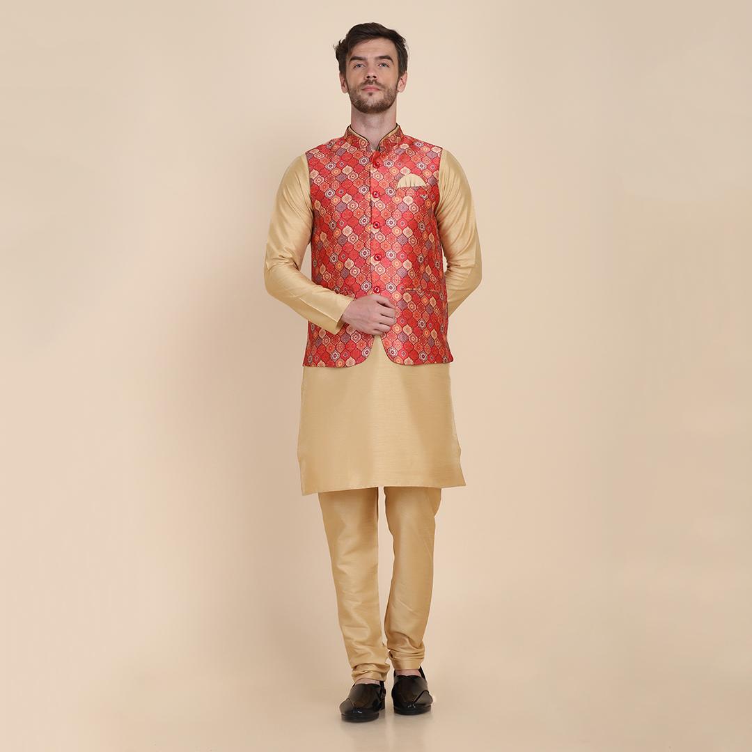 TAHVO   Kurta pyjama with Nehru Jacket