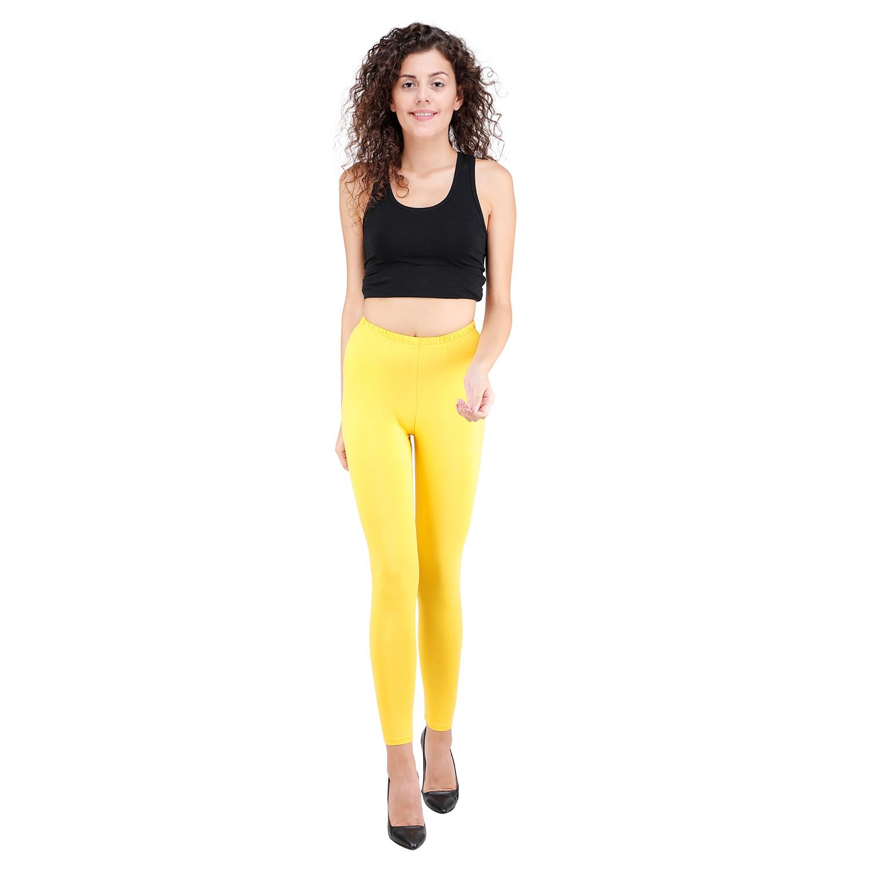 SPIFFY   SPIFFY Women Full Length Casual Yellow Leggings
