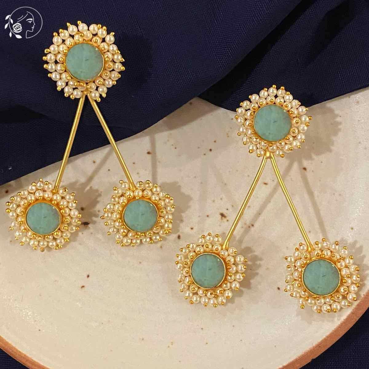 Swabhimann Jewellery   Swabhimann The Druzy Mint Trio
