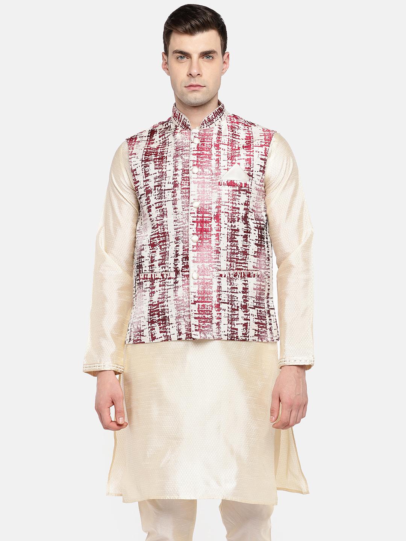 Ethnicity   Ethnicity Sleeveless Fashion Men Red Jackets