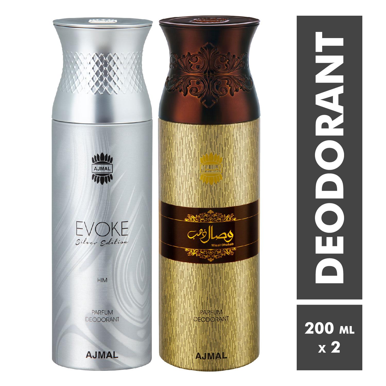 Ajmal | Evoke and Wisal Dhahab Deodorant Spray - Pack of 2
