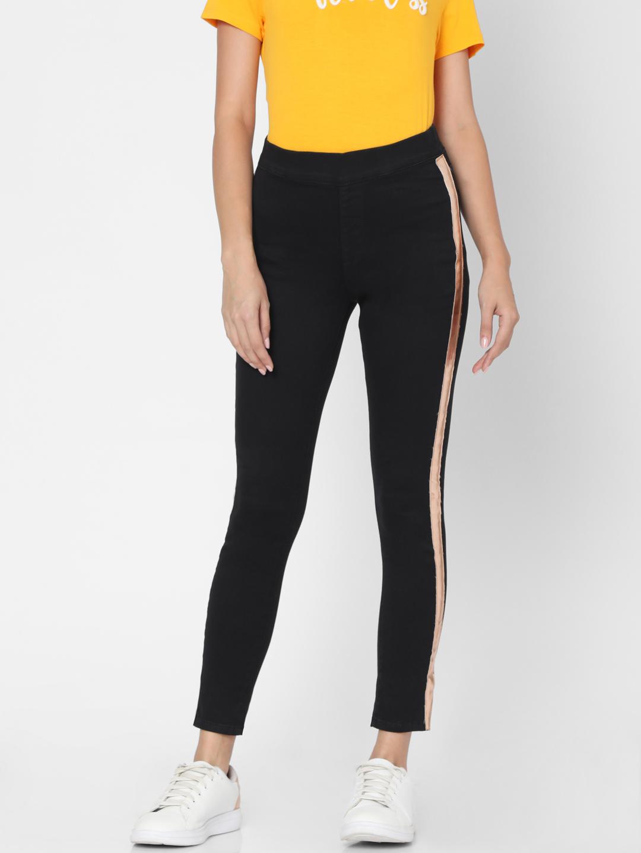 Spykar | Spykar Black Cotton Women Jeggings (Fashion Jeggins)