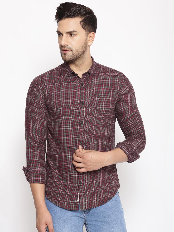 Showoff | SHOWOFF Men's  Cotton  Pink Printed Slim Fit Shirt