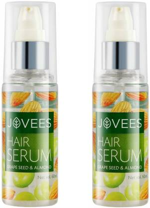 Jovees | JOVEES Hair Serum Grape Seed and Almond Pack of 2 (60mlx2)