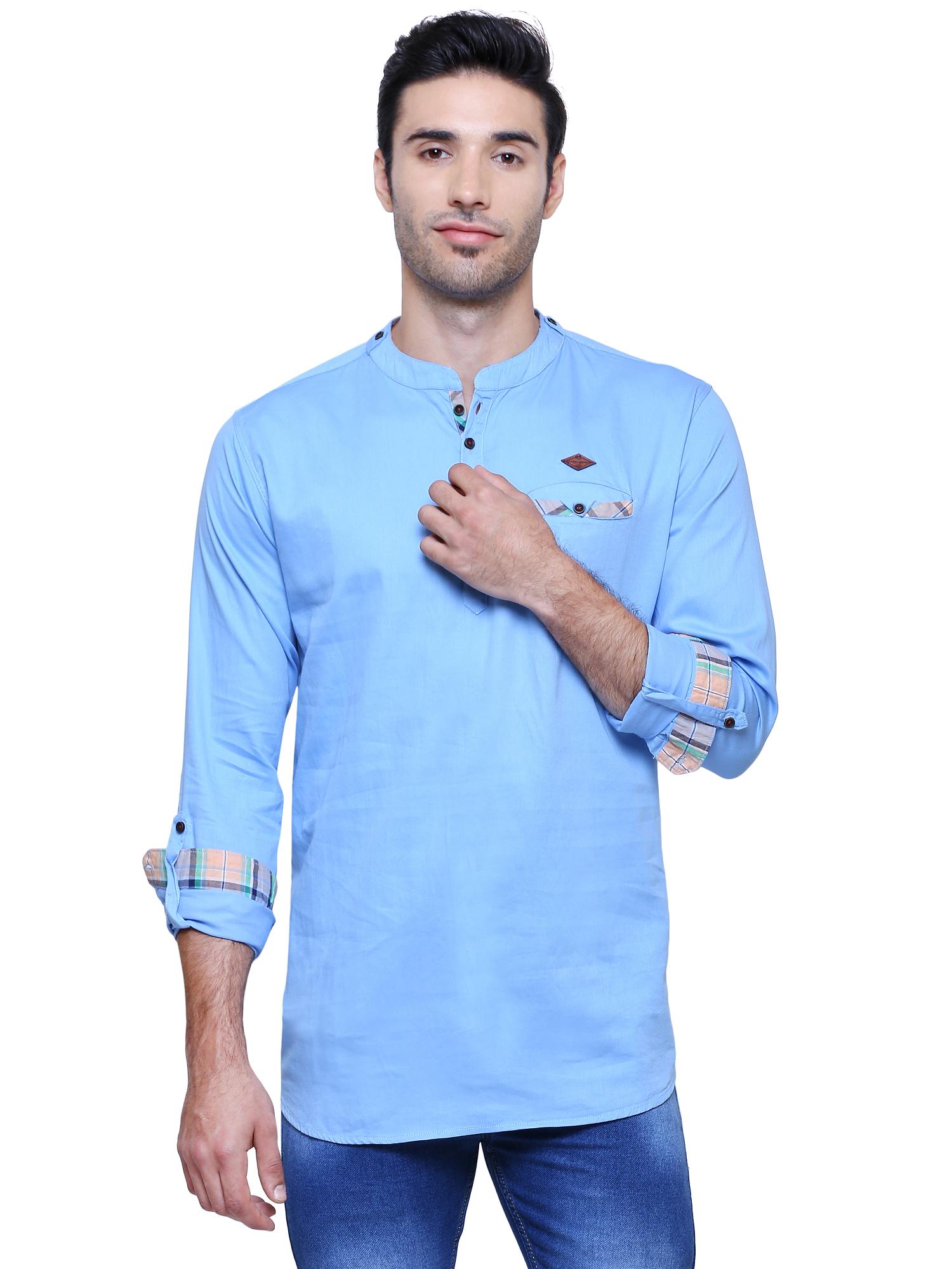 Kuons Avenue | Kuons Avenue Men's Blue Casual Cotton Kurta- KACLFS1278BU