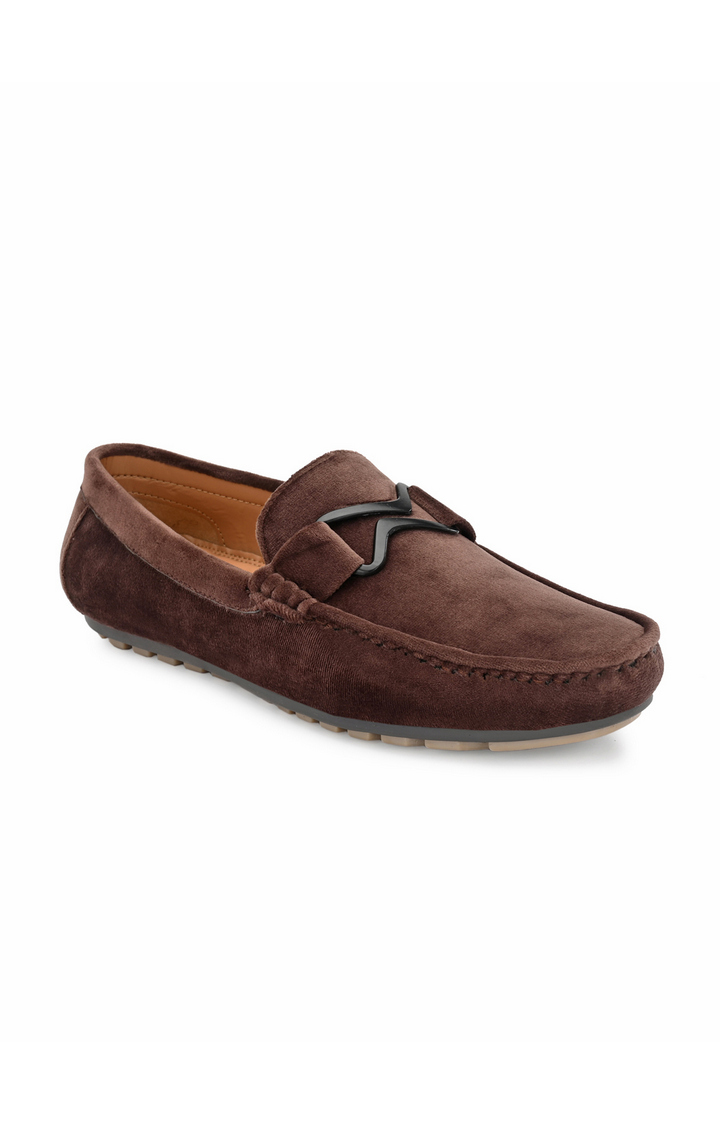 Guava | Guava Charming Velvet Casual Loafer Shoes - Brown