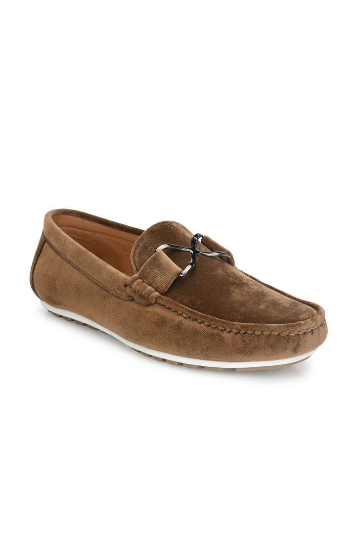Guava   Guava Charming Velvet Casual Loafer Shoes - Tan