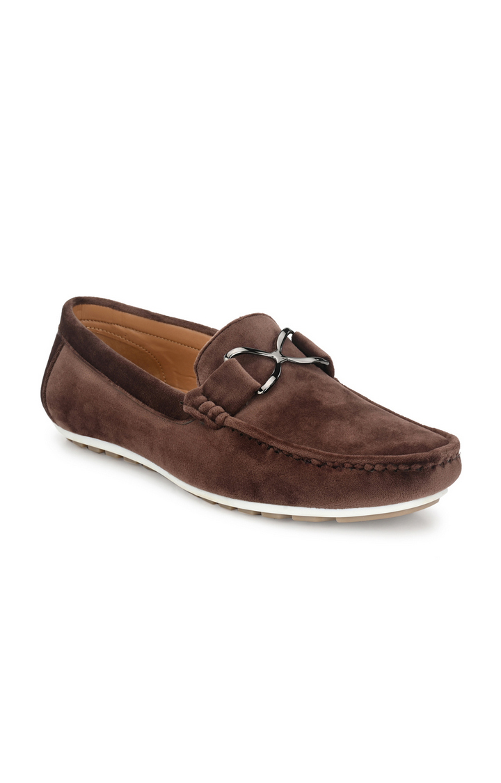 Guava   Guava Charming Velvet Casual Driving Loafer Shoes - Brown
