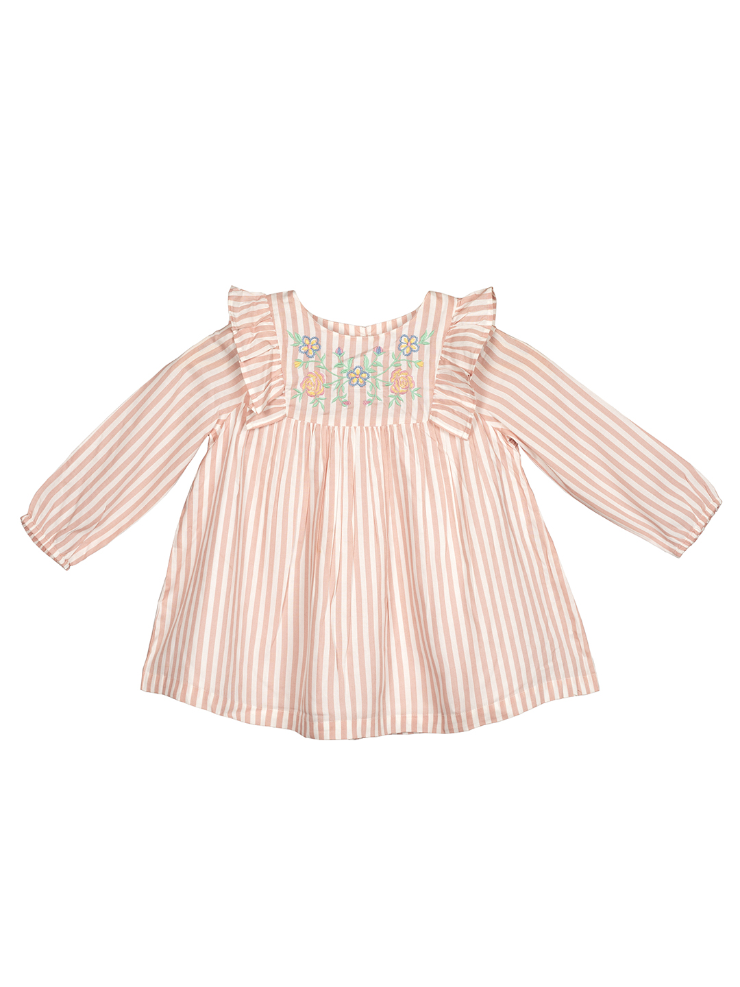 Budding Bees   Budding Bees Girls Beautiful Embroidered Top-Orange
