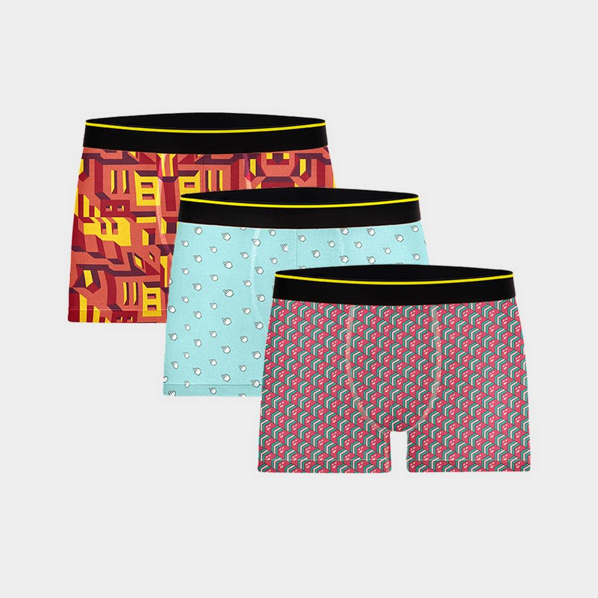 Bummer | Bummer Mindsweeper+Clickbait + Bricked Micro Modal Trunk- Pack of 3 For Men