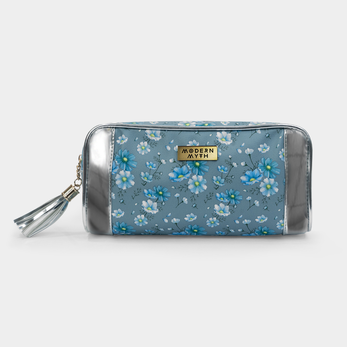 Modern Myth   Floral Story Silver Multi-Purpose Makeup Pouch