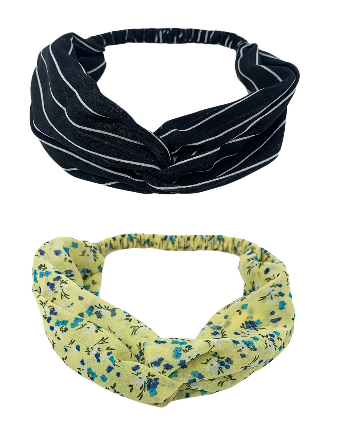 Mint & Oak   Mint & Oak Indigo Blues Hairbands for Women - Pack of 2