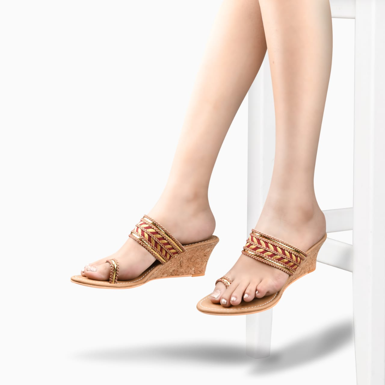 SALARIO   Salario Embellished Toe-ring Wedges