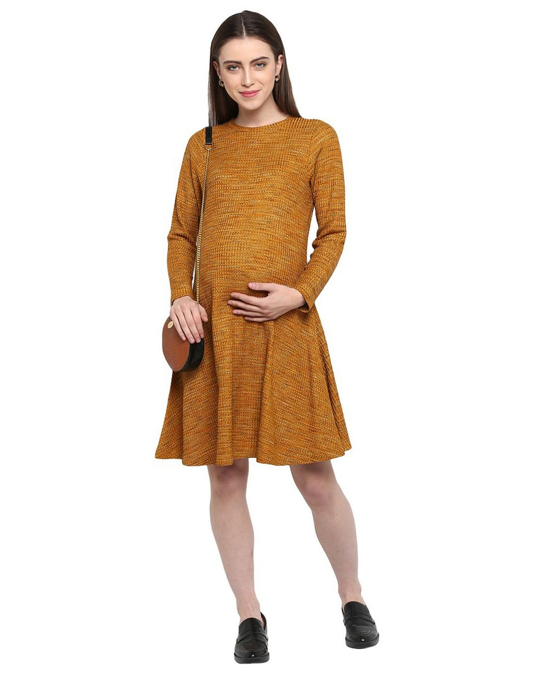 Mothercare | Momsoon women maternity full Sleeves casual dress- Yellow