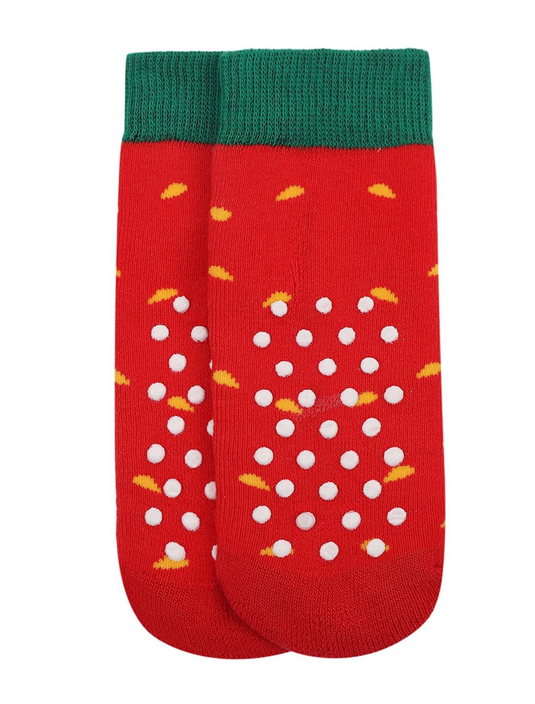 Soxytoes | Soxytoes Watermelon Cotton Crew Length Red Kids Socks-Age (0-2 Years)