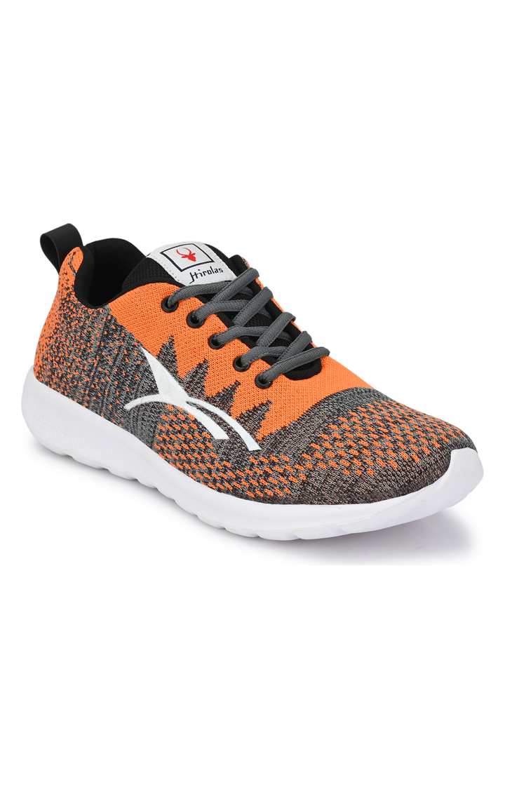 Hirolas   Hirolas feather Sports Shoes - Orange/Grey