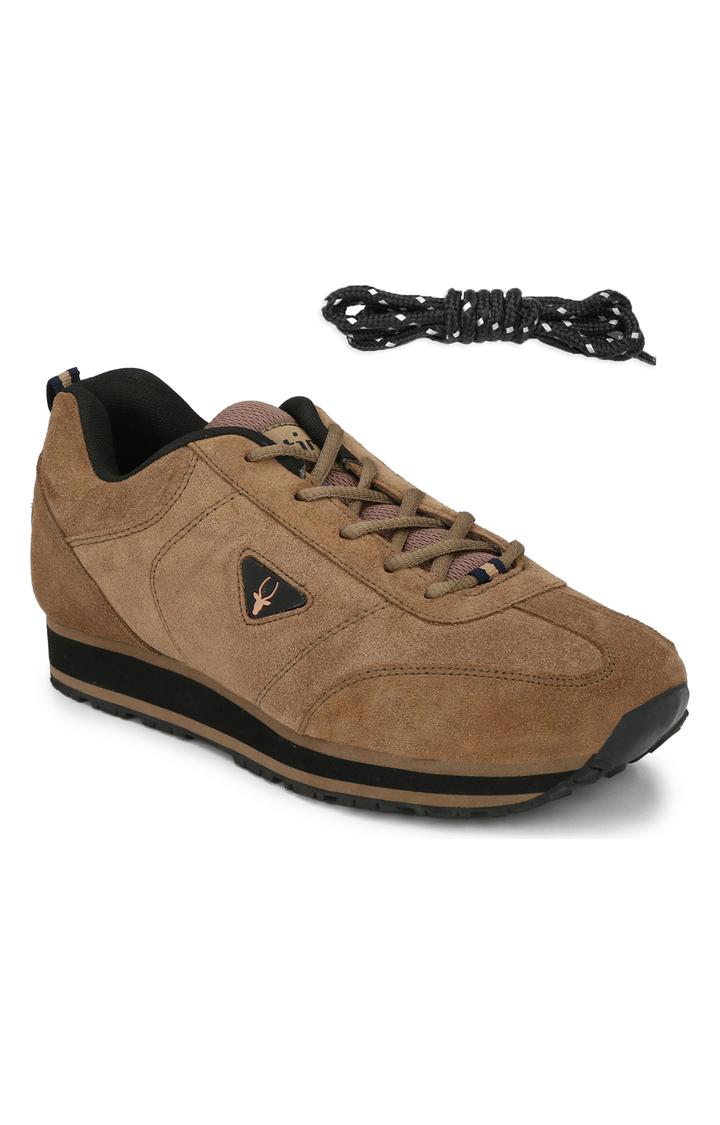 Hirolas | Hirolas Leather Multi Sport Shock Absorbing Walking  Running Fitness Athletic Training Gym Sneaker Shoes - Camel