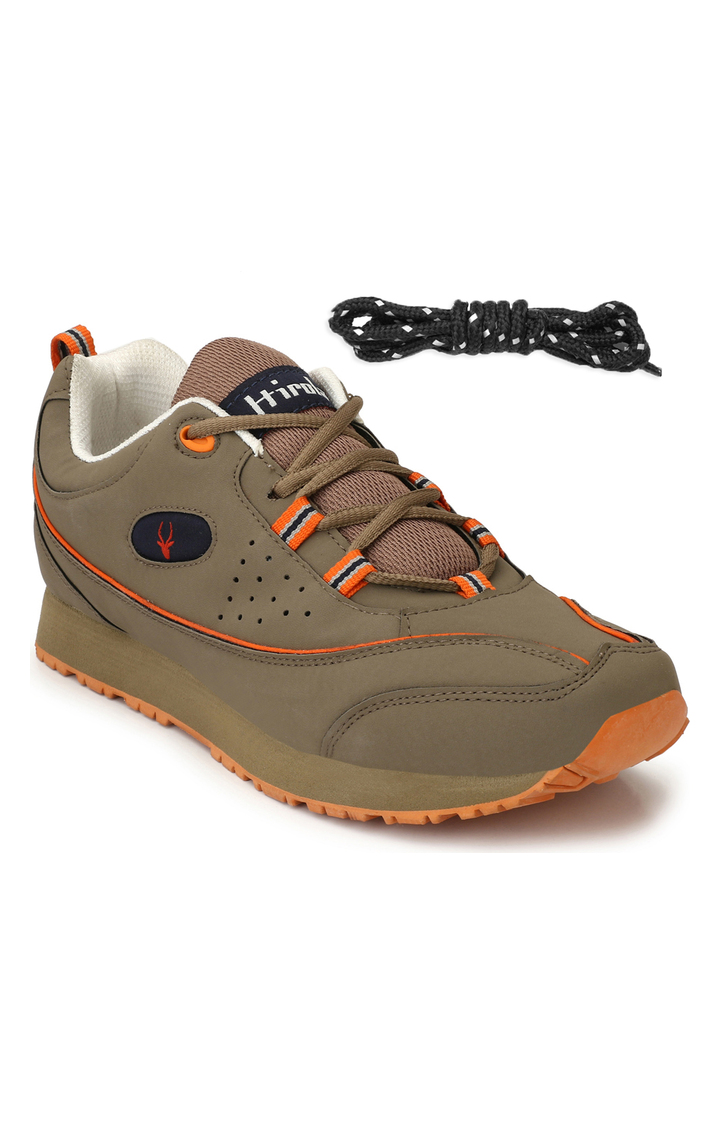 Hirolas   Hirolas Multi Sport Shock Absorbing Walking  Running Fitness Athletic Training Gym Sneaker Shoes - Chickoo