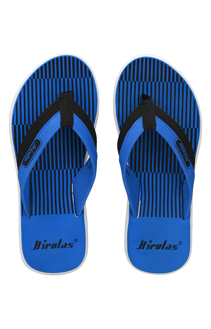 Hirolas | Hirolas Fabrication Flip-Flops comfortable Slippers - Blue