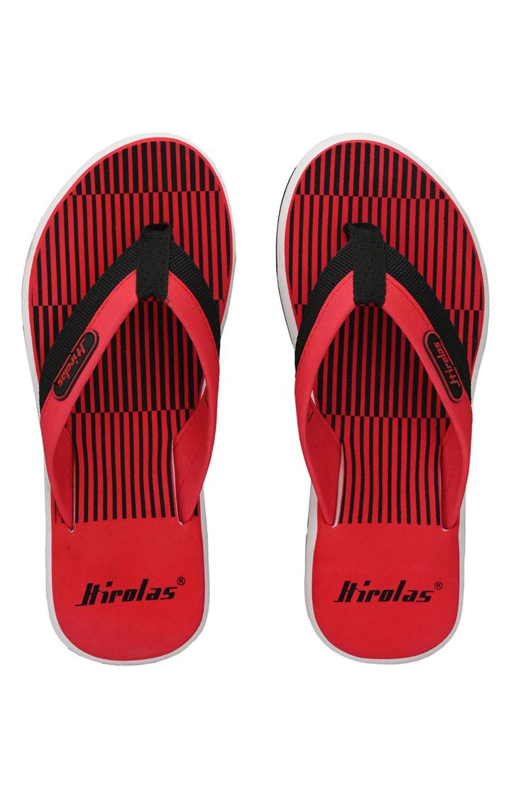 Hirolas | Hirolas Fabrication Flip-Flops comfortable Slippers - Red
