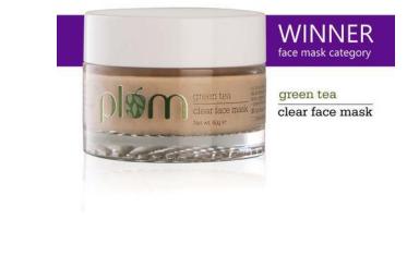 plum be good | plum Green Tea Clear Face Mask