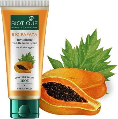 Biotique Advanced Ayurveda | BIOTIQUE Bio Papaya Revitalizing Tan removal Scrub