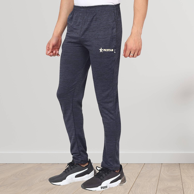 Picstar | PICSTAR Solid Men Black Track Pants
