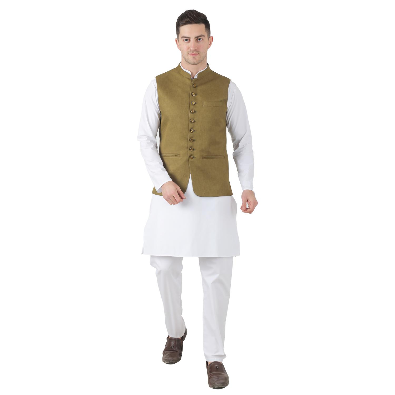 TAHVO | Tahvo Men 9 Button Nehru Jacket Kurta Set