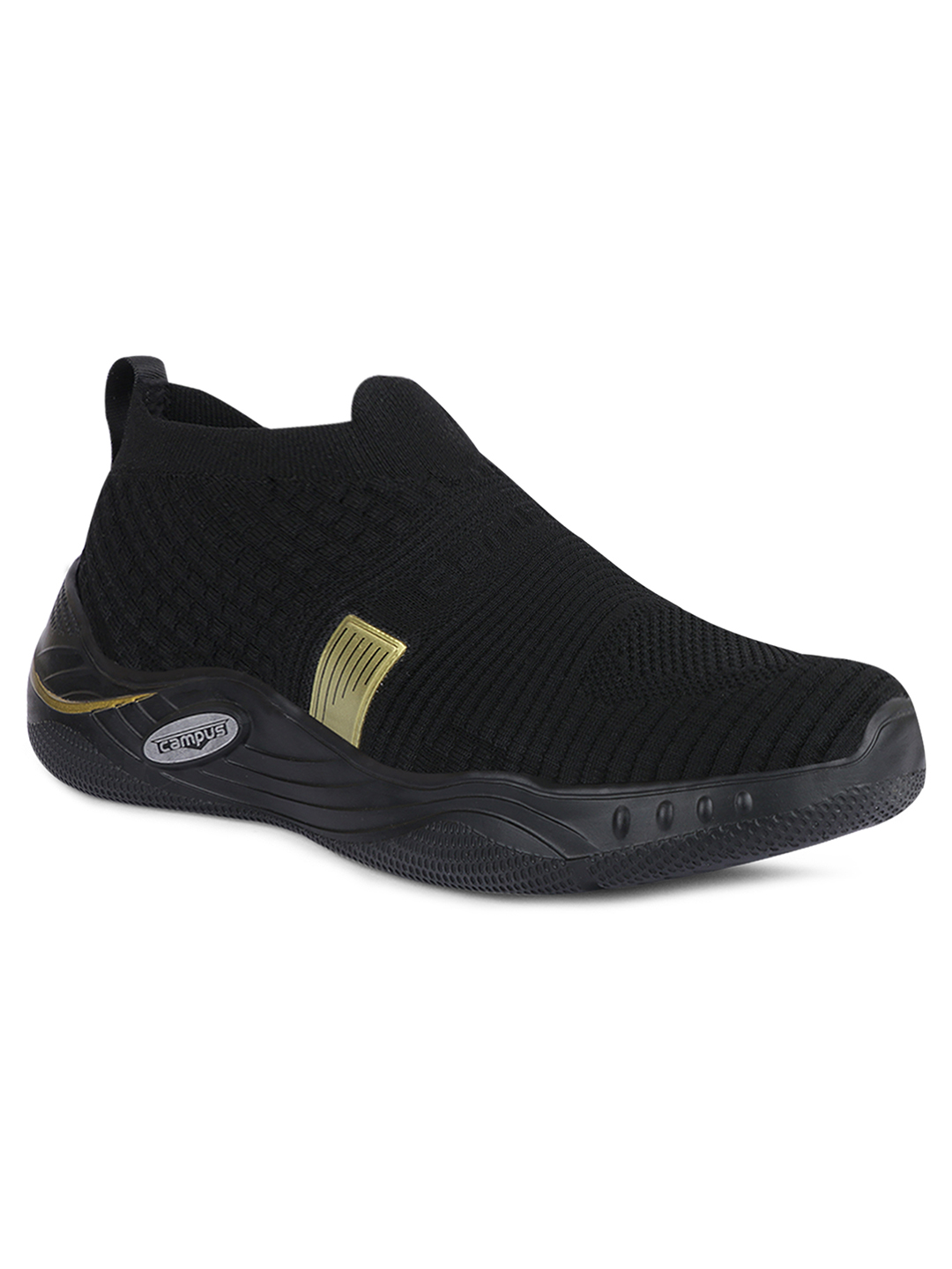 Campus Shoes | Black Bentley Running Shoes