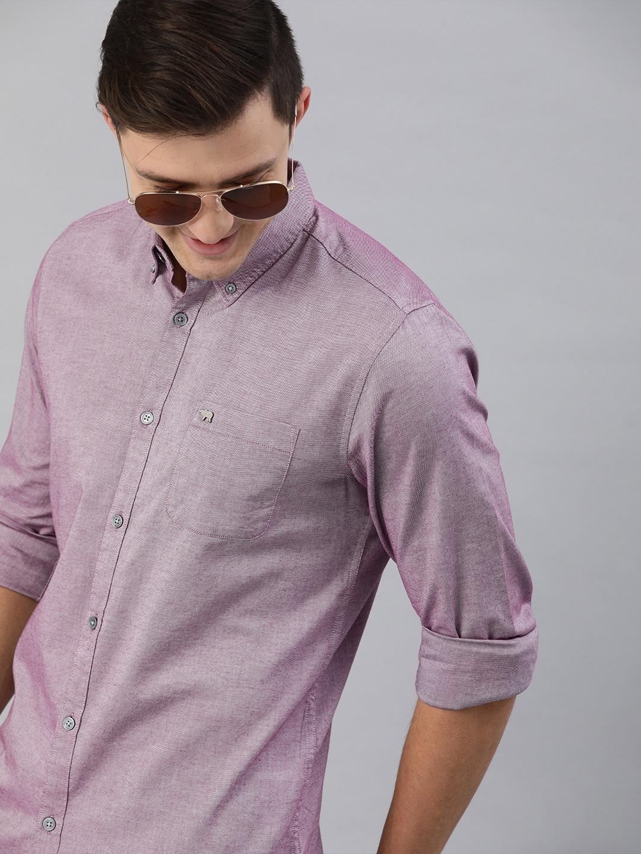 The Bear House   Men's Purple Button-Down Shirt