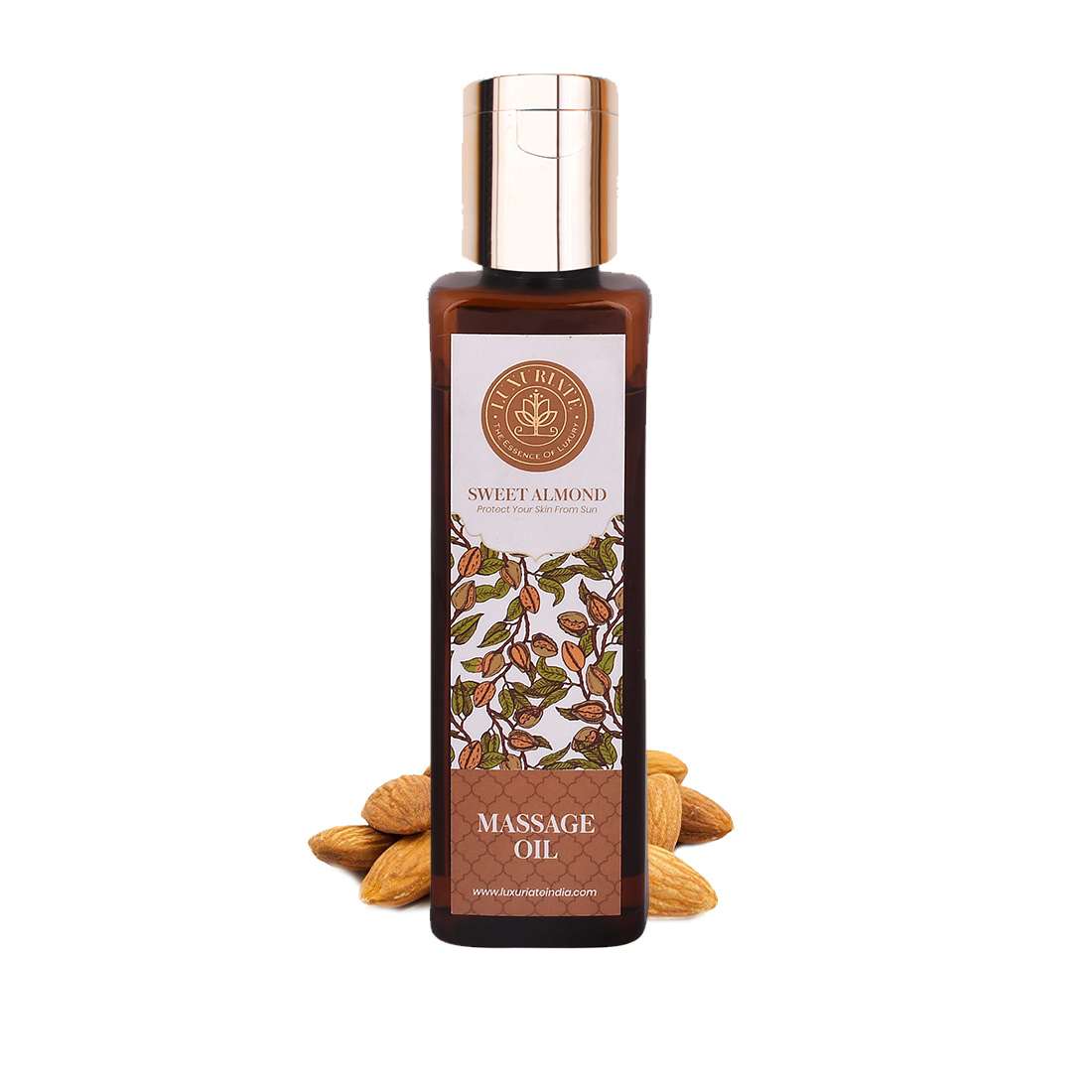 LUXURIATE   LUXURIATE Sweet Alomnd Natural and Herbal Massage Oil for Hair and Skin,100 ml