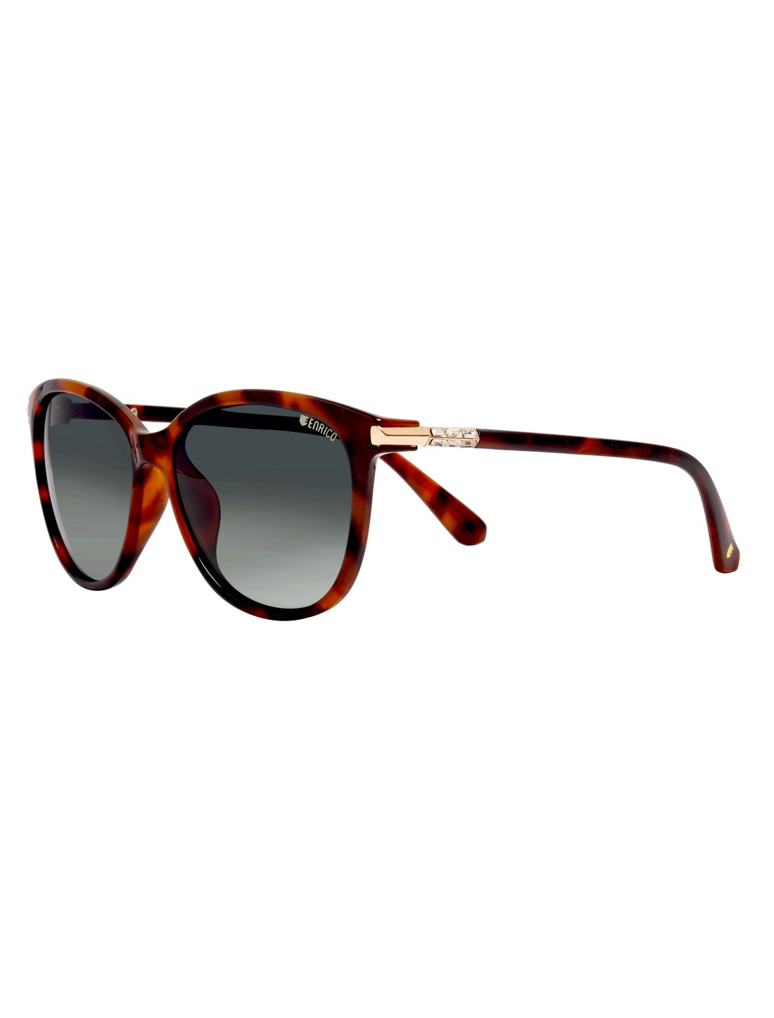 ENRICO   ENRICO Hawaii Polycarbonate UV Protected & Polarized Butterfly Shape Sunglasses for Women ( Lens - Black   Frame - Brown)