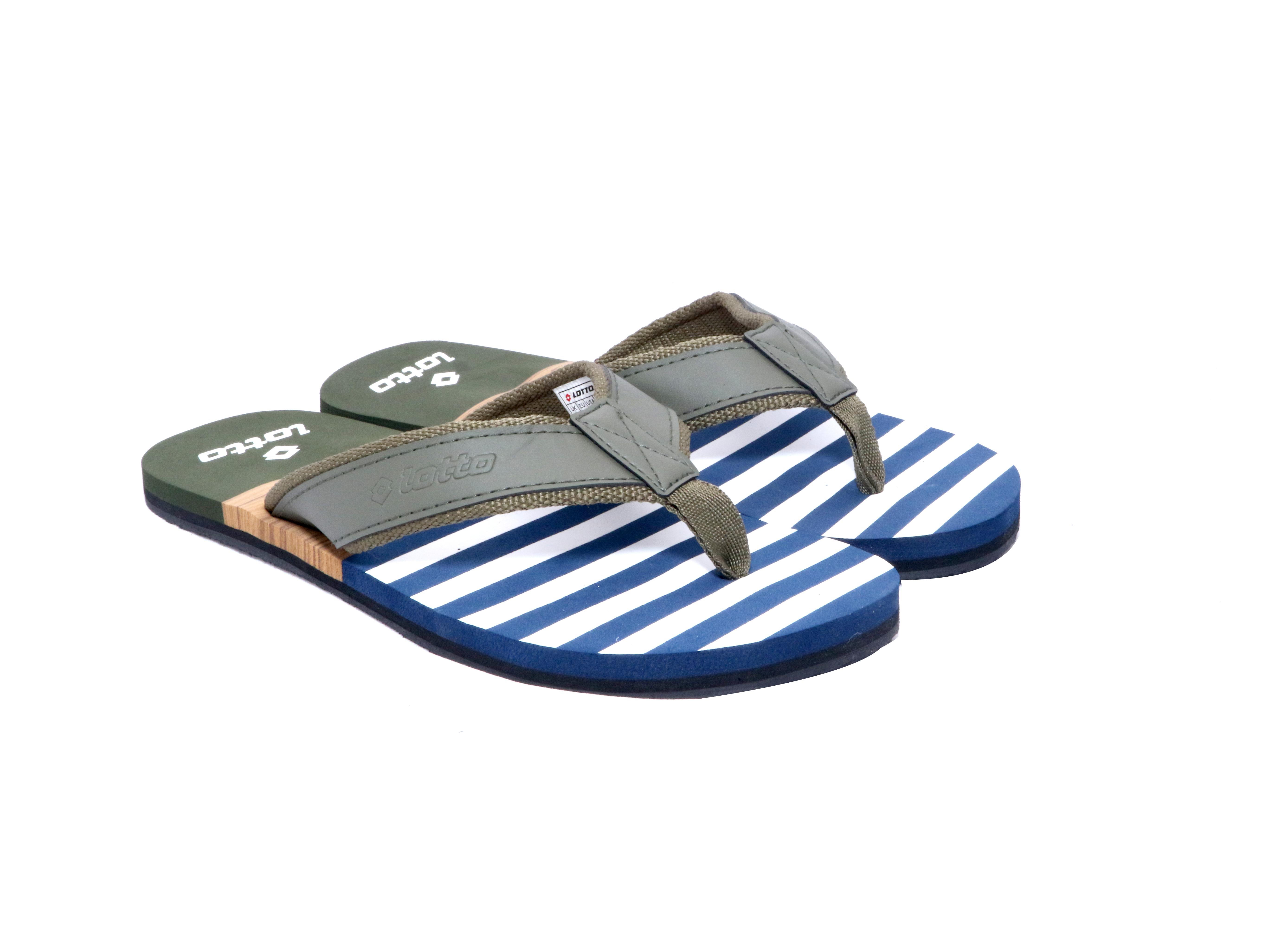 Lotto | Lotto Men's Dante Blue/Green Slippers