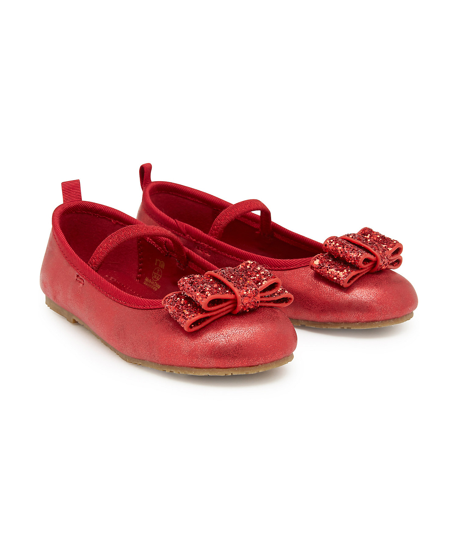 Mothercare | Girls Bellies Glitter Bow - Red