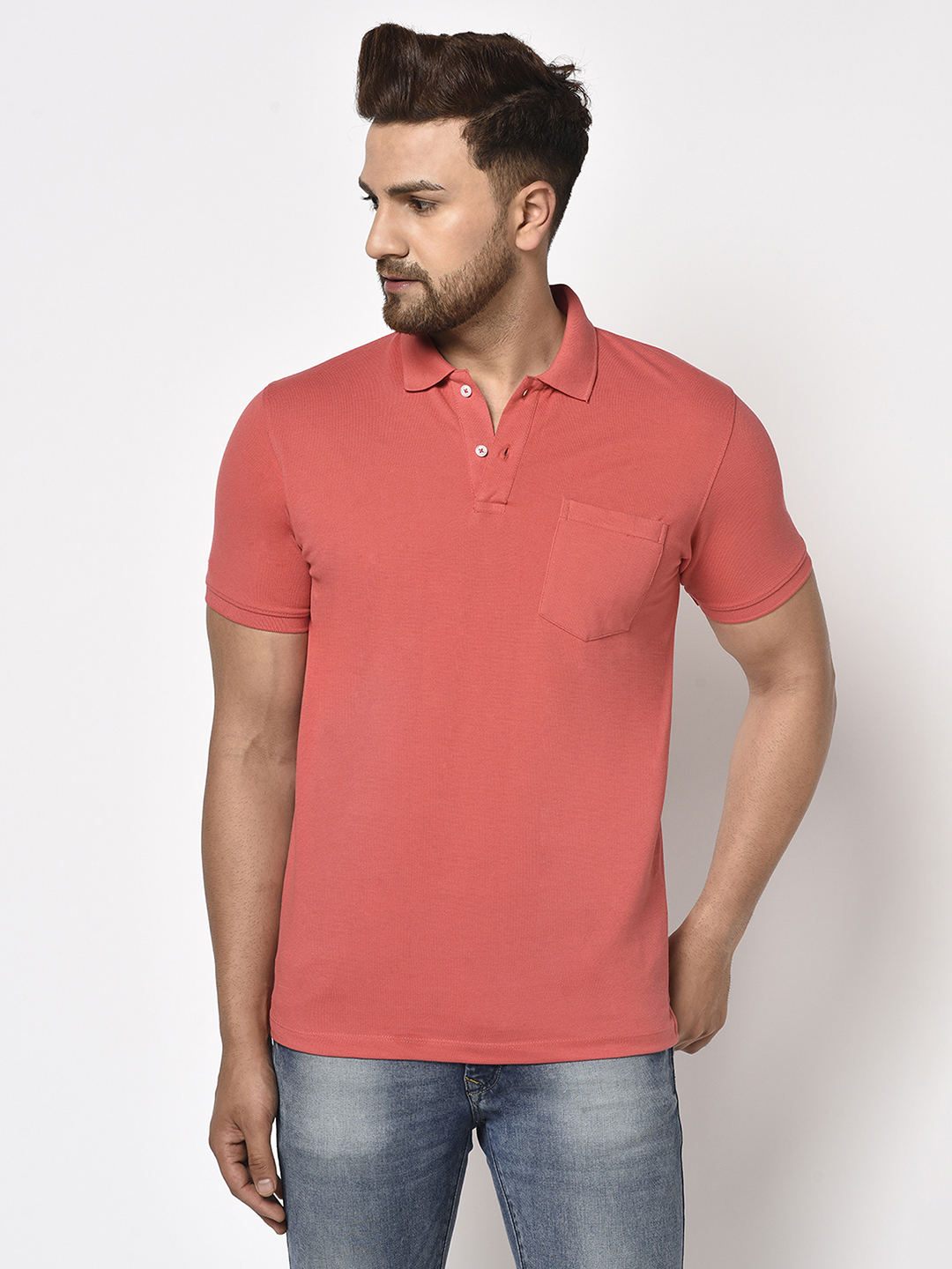 OCTAVE   Men SPICED CORAL T-Shirts