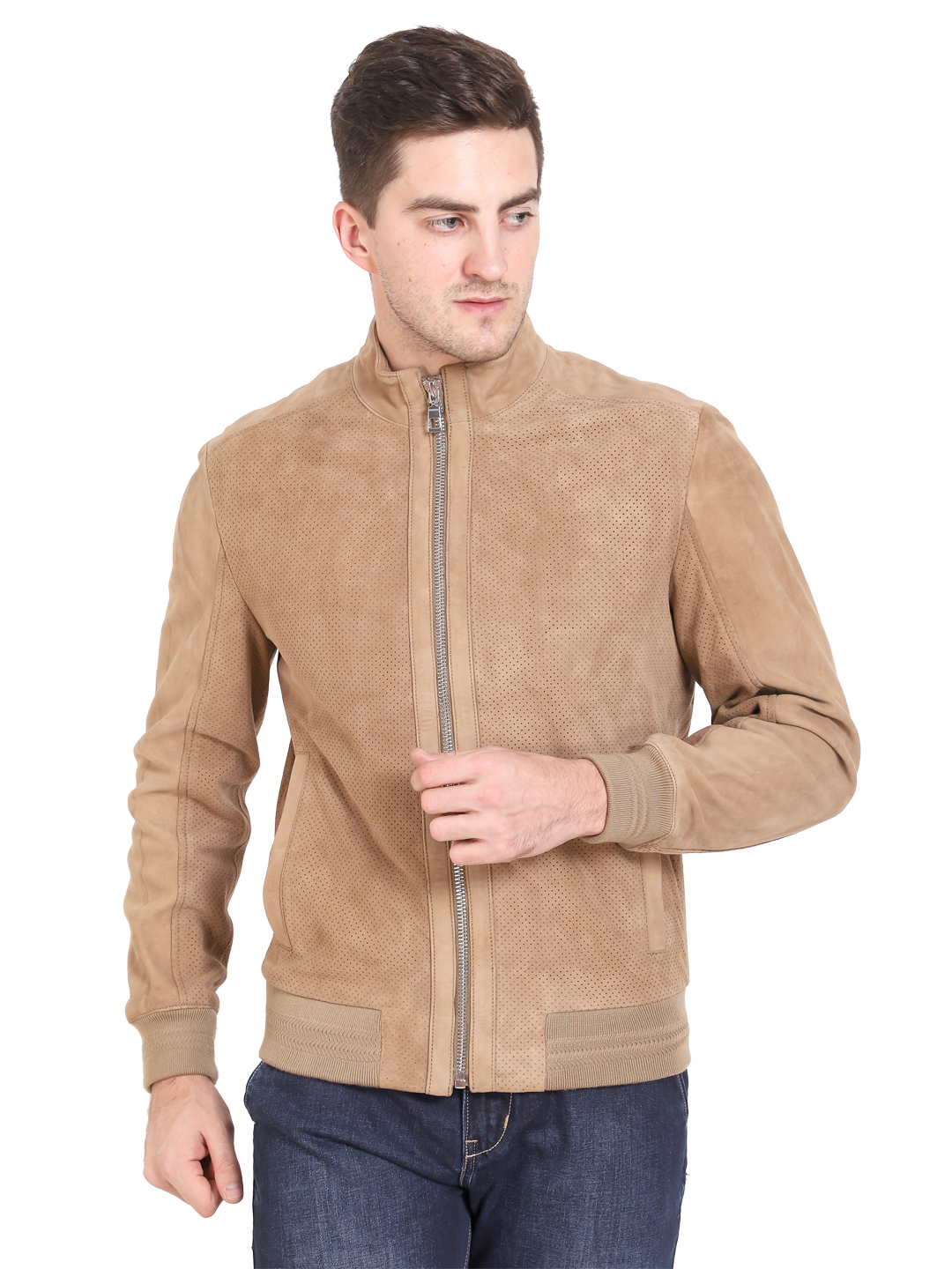 Justanned   JUSTANNED MEN GENUINE REAL LEATHER JACKET