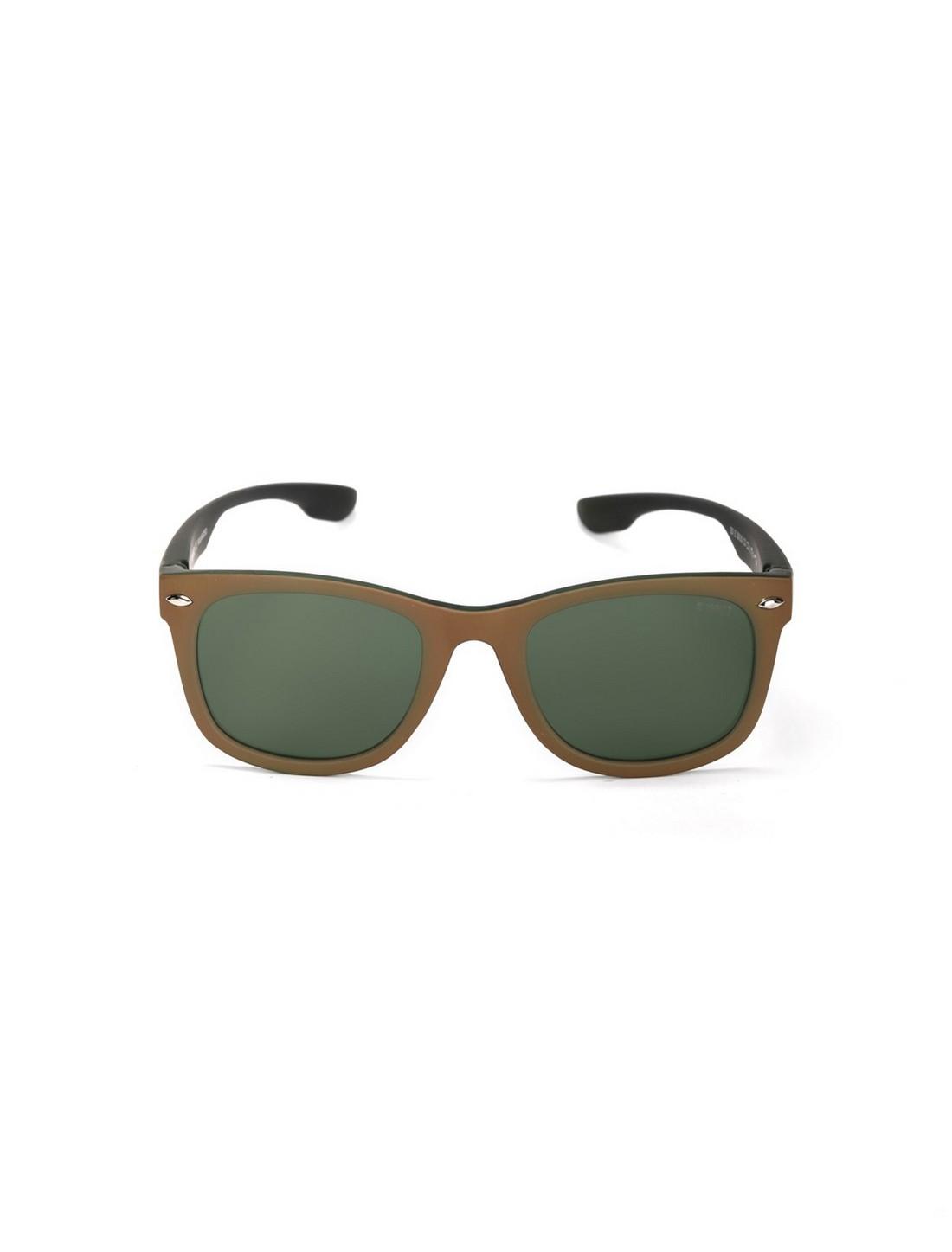 ENRICO | ENRICO Nudo UV Protected Wayfarer Sunglasses for Men ( Lens - Green | Frame - Brown )