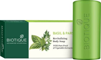 Biotique Advanced Ayurveda | BIOTIQUE Bio Basil and Parsley Revitalizing Body Soap