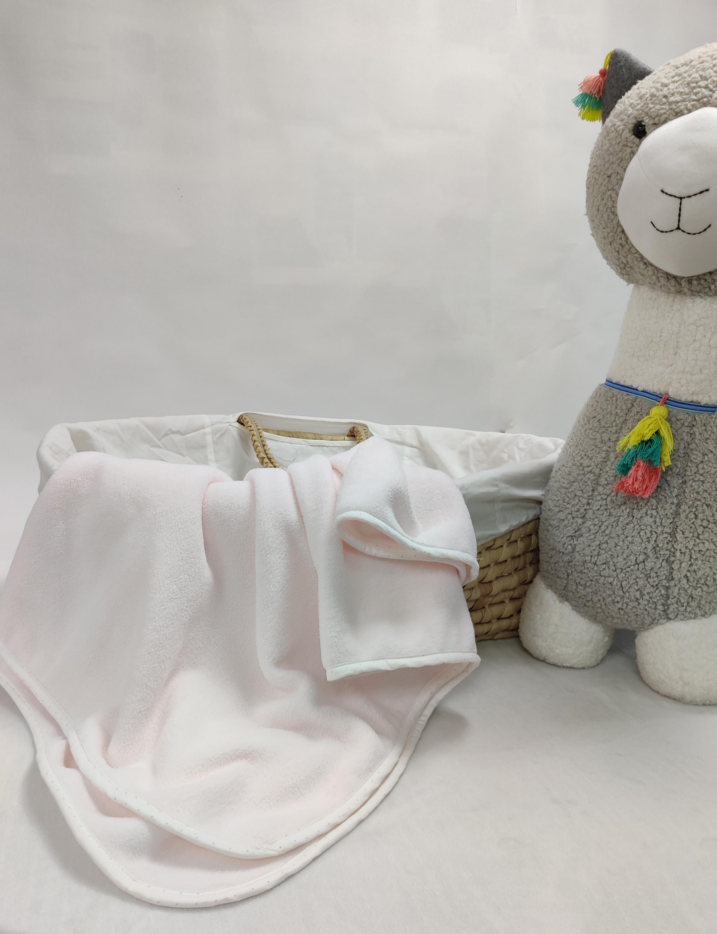 Mothercare | Shooting Star Fleece Baby Blanket Light Pink