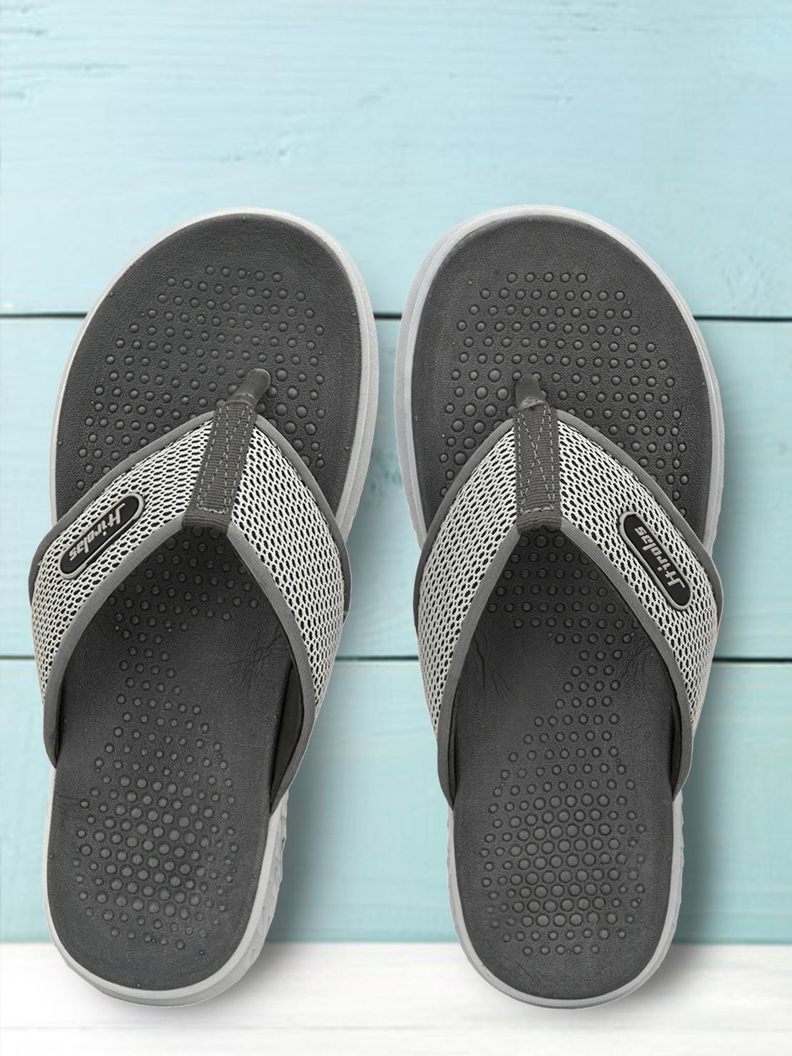 Hirolas | HIROLAS CLOUDWALK | Comfortable | Ultra-Soft | Light-Weight | Shock Absorbent | Bounce Back Technology | Water-Resistant | Flip Flops | Slippers for Men - Grey