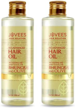 Jovees   JOVEES Bio Advanced Hair Oil -Bhringraj and Olive Pack of 2 Hair Oil  (200 ml x 2)
