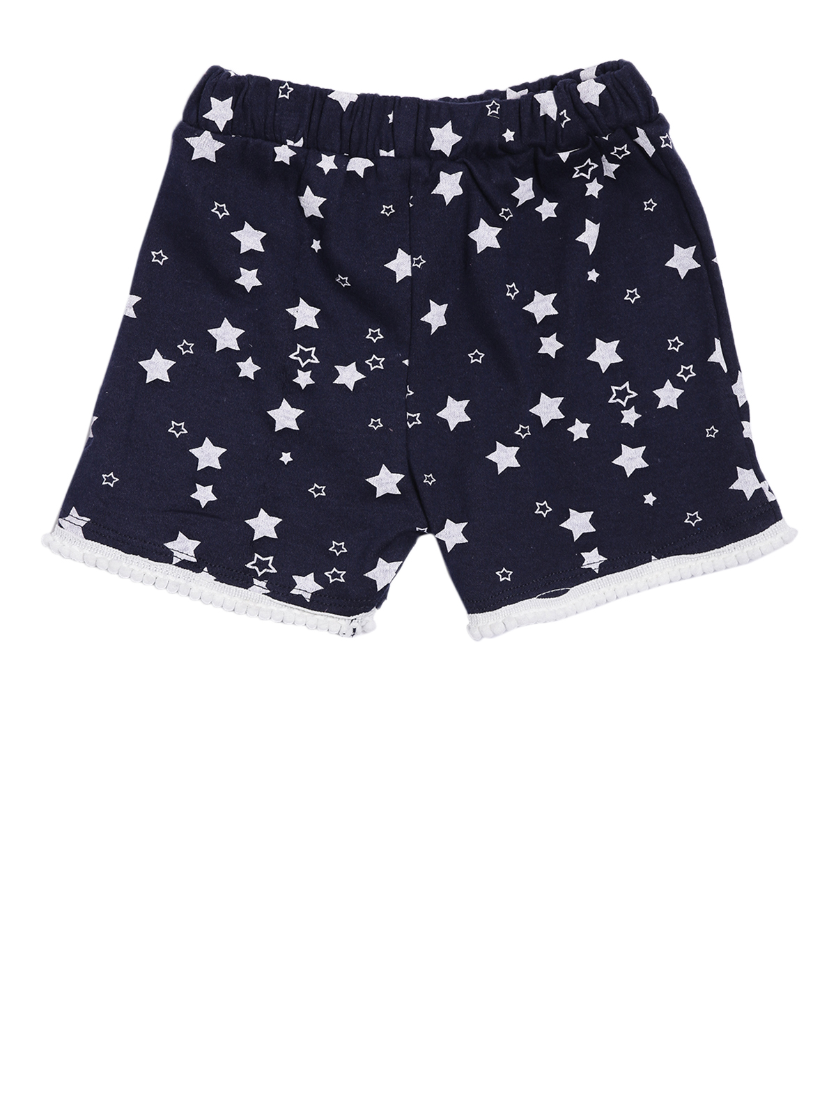 Kryptic | Kryptic girls 100% Cotton printed shorts with pompom