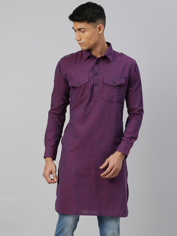 Kryptic   Kryptic Mens 100% Cotton pathani kurta