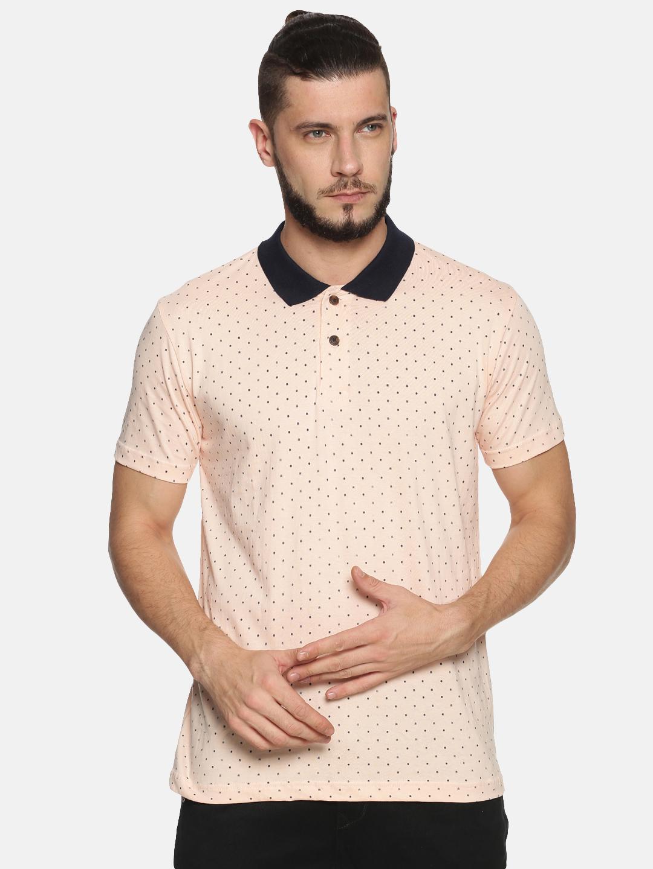 Kryptic   Kryptic Men's Polka dot printed polo Tshirt