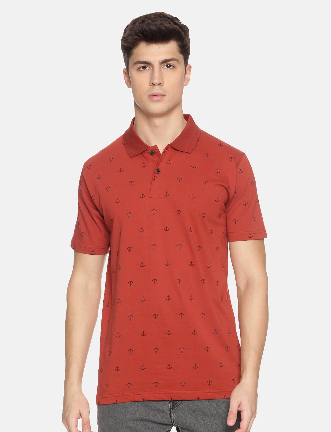 Kryptic   Kryptic Men's Anchor printed polo Tshirt
