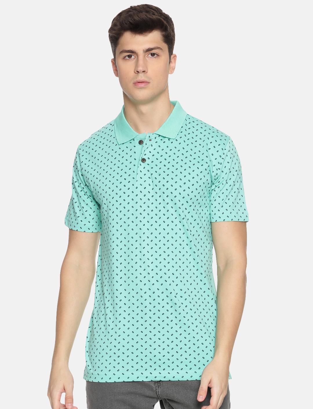 Kryptic | Kryptic Men's Triangle printed polo Tshirt