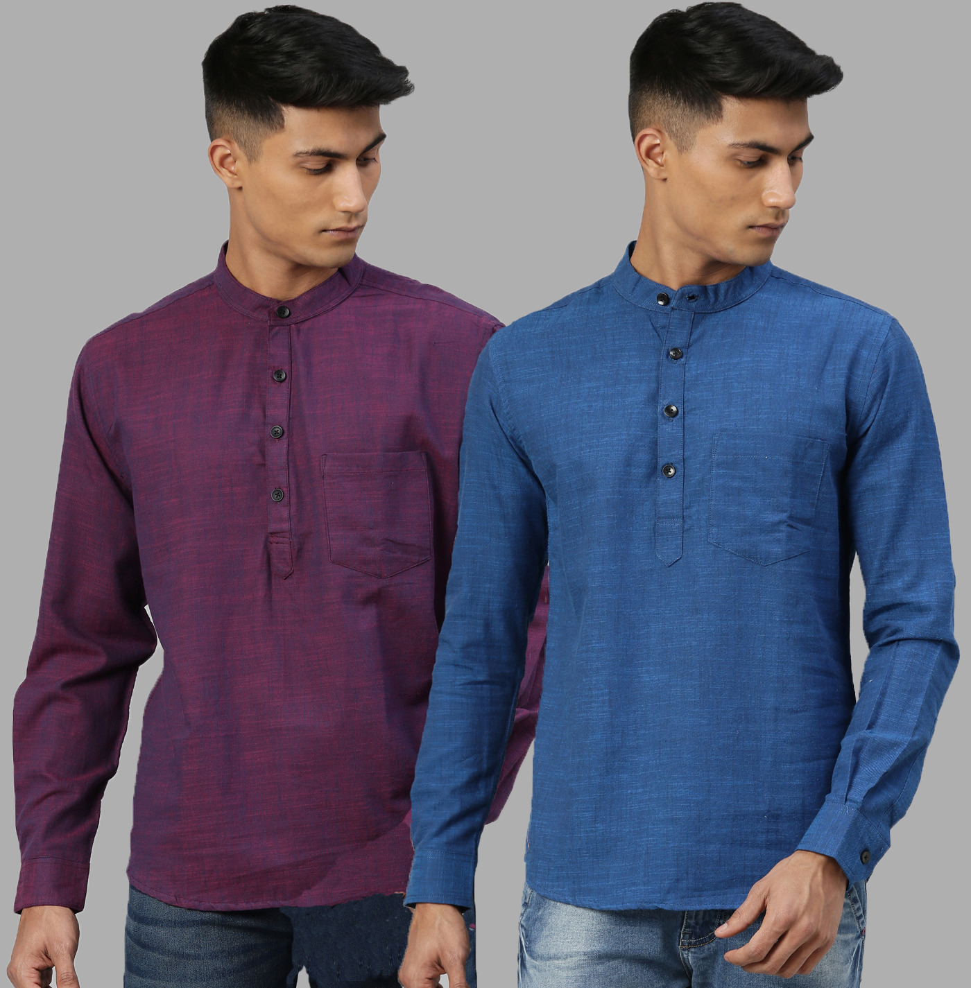 Kryptic   Kryptic Mens 100% Cotton Short kurta - pack of 2