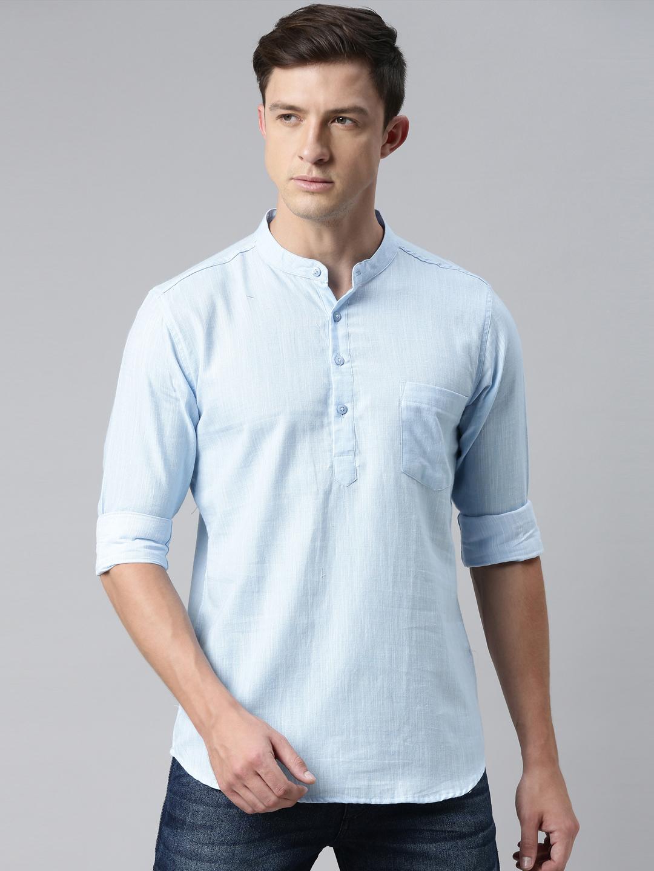 Kryptic | Kryptic Mens 100% Cotton Short kurta