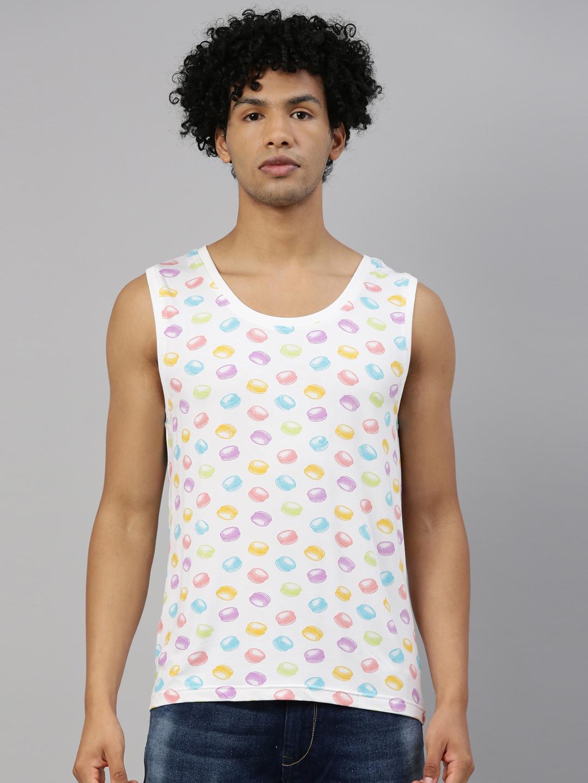 Kryptic | Kryptic Mens 100% Cotton printed sleeveless Tshirt - Pack of 2
