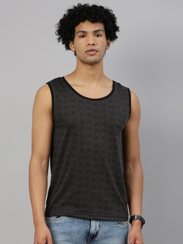 Kryptic | Kryptic Men Cotton Dark grey T-Shirts